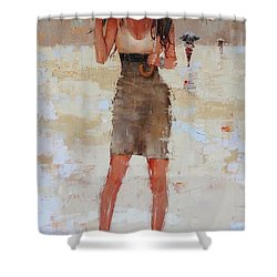 Another Big Red Shower Curtain