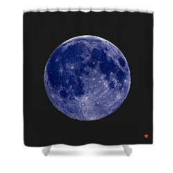 Another Blue Moon Shower Curtain