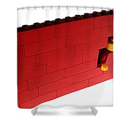 Shower Curtain featuring the photograph Another Brick In The Wall by Mark Fuller