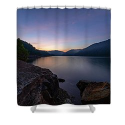 Another Day At Windy Bay Shower Curtain