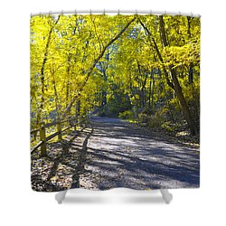 Another Fall In Philadelphia Shower Curtain by Bill Cannon