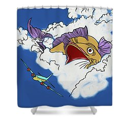 Shower Curtain featuring the digital art Another Fish Story by John Haldane