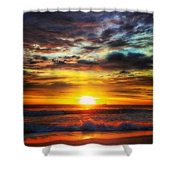 Morning Sunrise Shower Curtain by Lauren Fitzpatrick