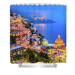 Another Glowing Evening In Positano Shower Curtain