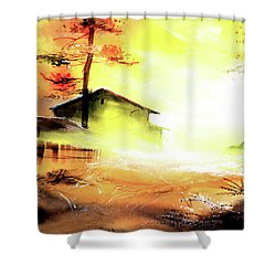 Shower Curtain featuring the painting Another Good Morning by Anil Nene