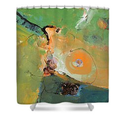 Shower Curtain featuring the painting Another Green World by Cliff Spohn