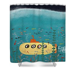 Shower Curtain featuring the painting Another Little Advenutre by Bri B