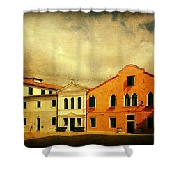 Shower Curtain featuring the photograph Another Malamocco Day by Anne Kotan