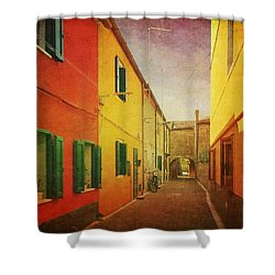 Shower Curtain featuring the photograph Another Morning In Malamocco by Anne Kotan