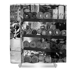 Shower Curtain featuring the photograph Another  Nyc  Breakfast by Dave Beckerman