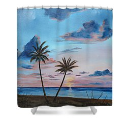 Another Paradise Sunset Shower Curtain