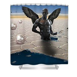 Another Side Of Dream Shower Curtain by Mark Ashkenazi