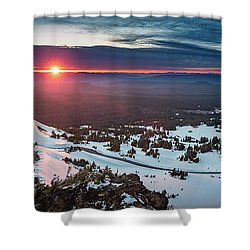 Shower Curtain featuring the photograph Another Sunset At Crater Lake by William Lee