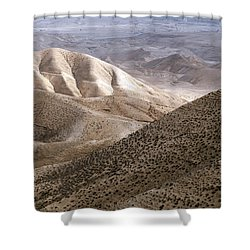 Another View From Masada Shower Curtain by Dubi Roman