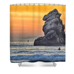 Another World Shower Curtain by AJ Schibig