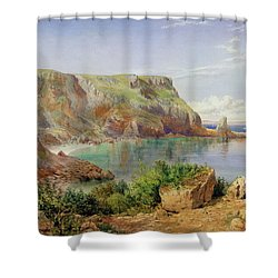 Ansty's Cove Shower Curtain by John William Salter