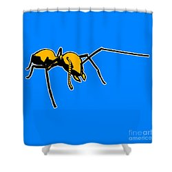 Ant Graphic  Shower Curtain by Pixel  Chimp