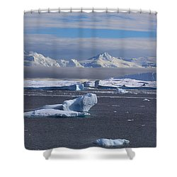 Antarctic Peninsula Shower Curtain by Andrei Fried