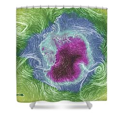 Antarctica Abstract Shower Curtain by Geraldine Alexander