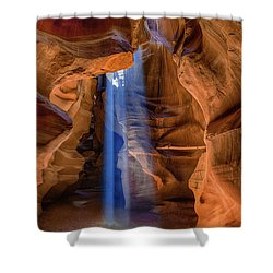 Antelope Canyon Blues Shower Curtain