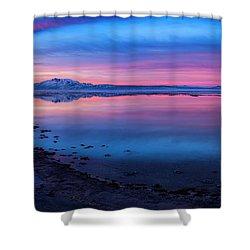 Antelope Island Sunrise Shower Curtain