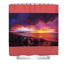 Antelope Island Sunset Shower Curtain