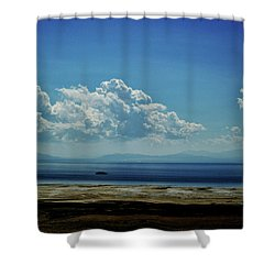 Antelope Island, Utah Shower Curtain by Cynthia Powell