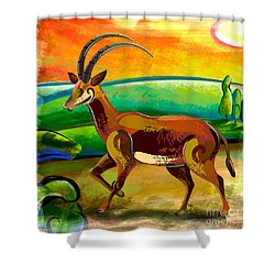 Antelope Of The Valley Shower Curtain