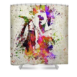 Anthony Kiedis In Color Shower Curtain by Aged Pixel