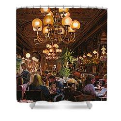 Antica Brasserie Shower Curtain by Guido Borelli