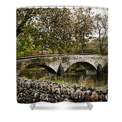Burnside's Bridge Over Antietam Creek Shower Curtain by Kathleen Scanlan