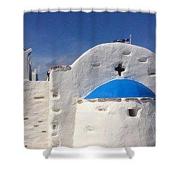 Antiparos Island Greece  Shower Curtain