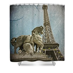 Antiquation Shower Curtain by Andrew Paranavitana
