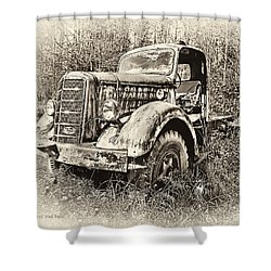 Antique 1947 Mack Truck Shower Curtain