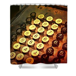 Antique Adding Machine Keys Shower Curtain