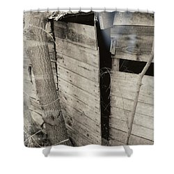 Shower Curtain featuring the photograph Antique Barn Circa 1930s by Renee Trenholm