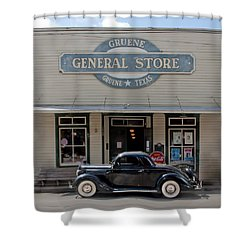 Antique Car At Gruene General Store Shower Curtain