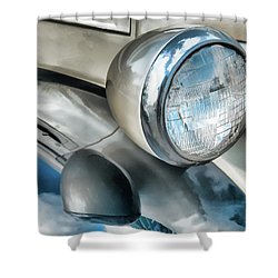 Antique Car Headlight And Reflections Shower Curtain