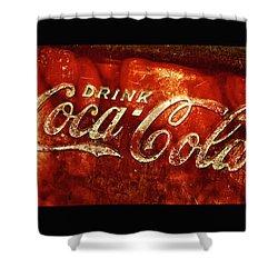Antique Coca-cola Cooler II Shower Curtain