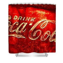 Antique Coca-cola Cooler Shower Curtain