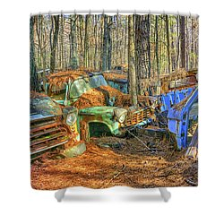 Antique Trucks Shower Curtain