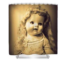 Antique Dolly Shower Curtain by Susan Lafleur