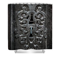 Shower Curtain featuring the photograph Antique Door Lock by Elena Elisseeva