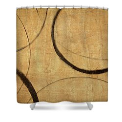 Shower Curtain featuring the painting Antique Ensos by Julie Niemela