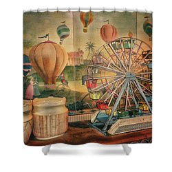 Antique Ferris Wheel Walt Disney World Mp Shower Curtain