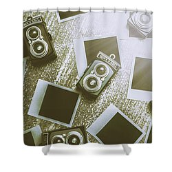 Antique Film Photography Fun Shower Curtain