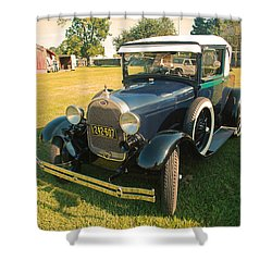 Antique Ford Car Shower Curtain