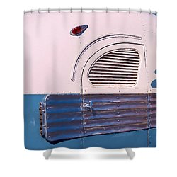 Shower Curtain featuring the photograph Antique Bus by Gary Slawsky