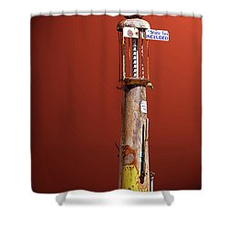 Antique Gas Pump Shower Curtain by Phyllis Denton