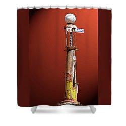 Antique Gas Pump Shower Curtain